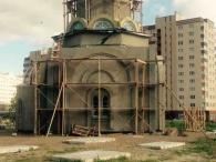 фото работ по остеклению церкви
