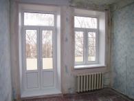 двустворчатые балконные двери
