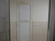 Пластиковая дверь в квартире