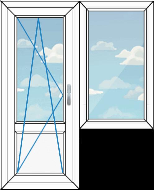 балконный блок, вариант 1