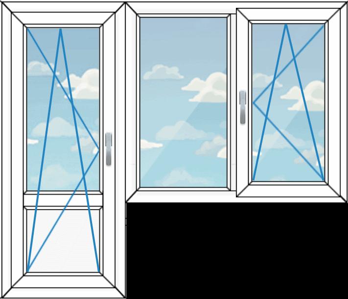 балконный блок, вариант 2