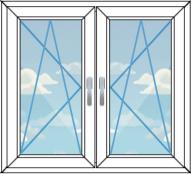 двустворчатое окно, вариант 2