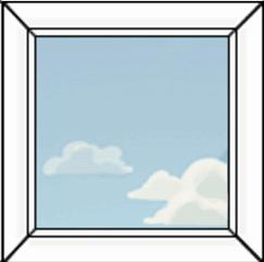 глухое одностворчатое окно